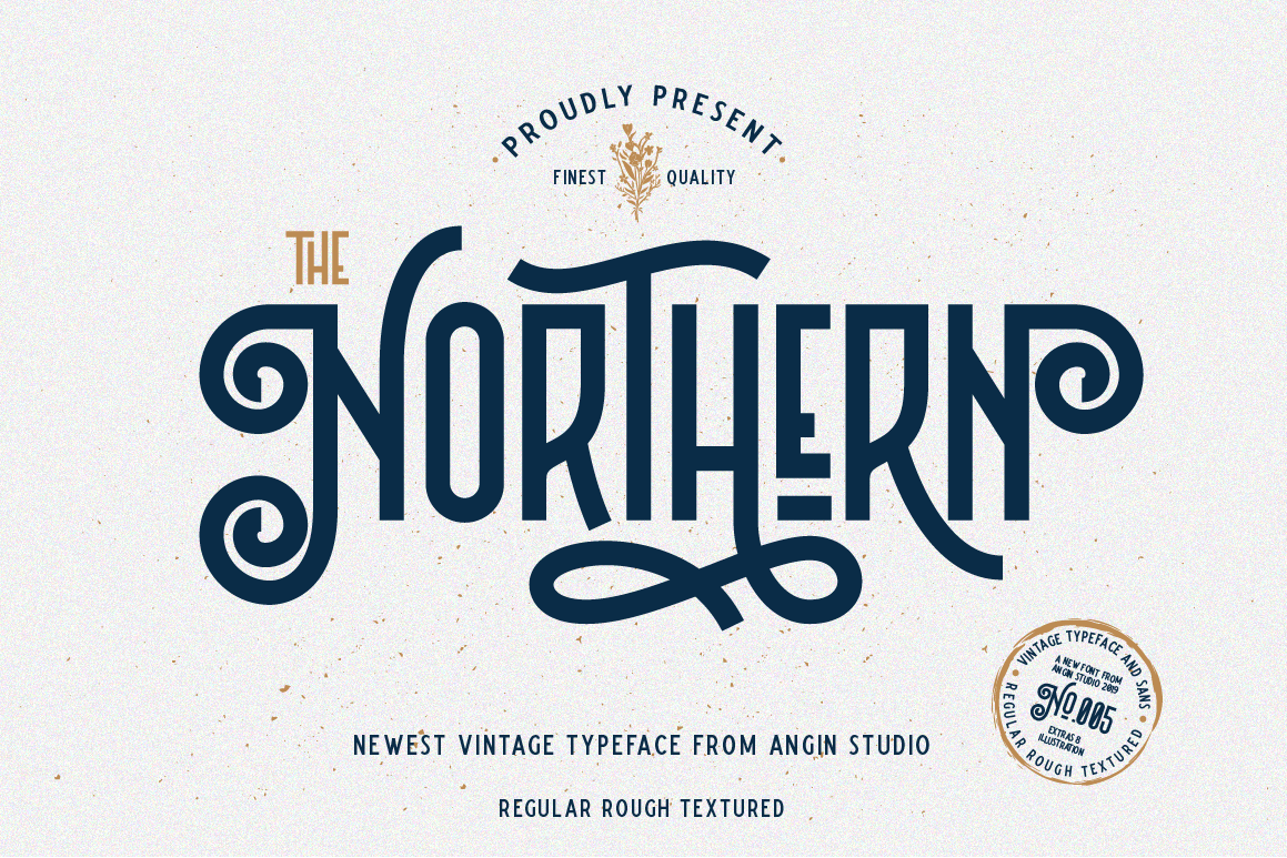 Northern 5 Fonts with Extras example image 1