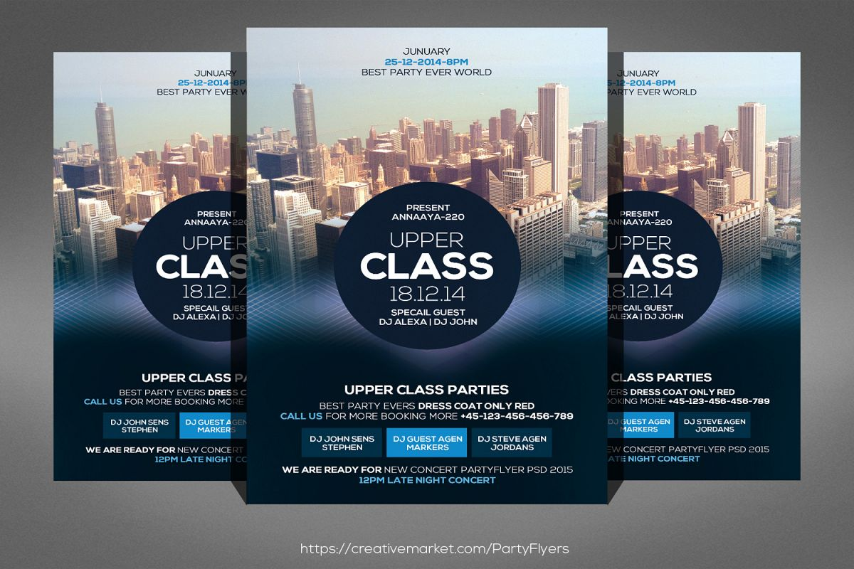 Upper Class Party Flyer example image 1
