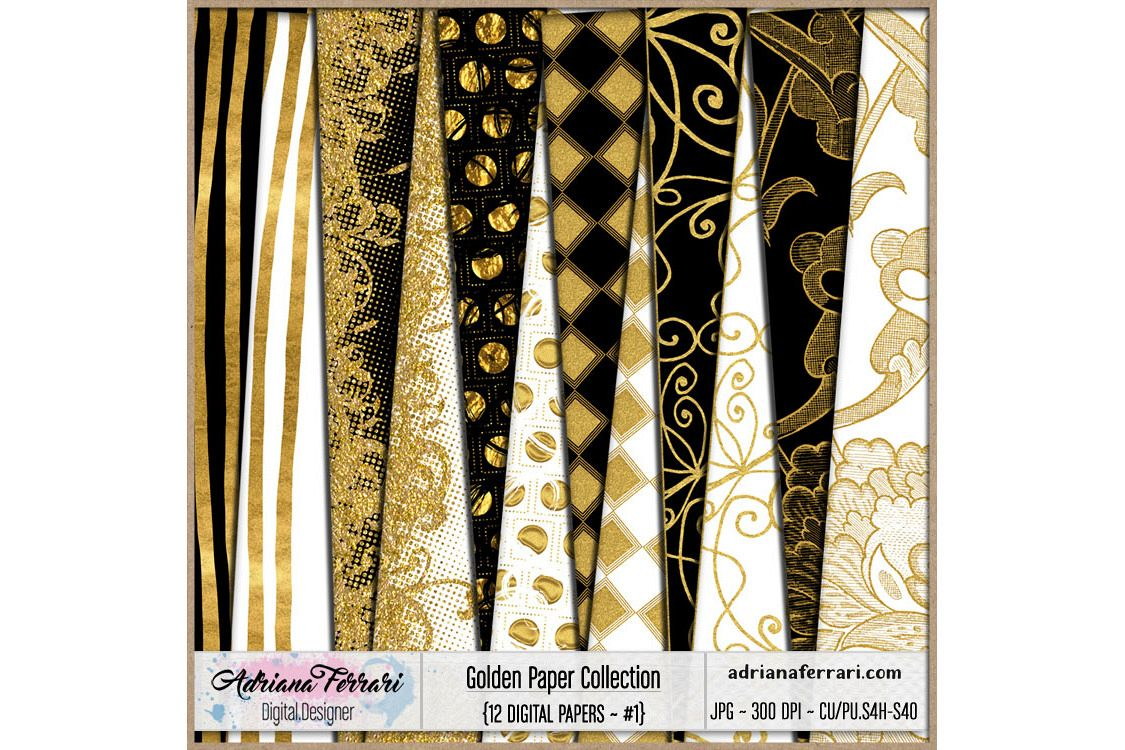 Golden Paper Collection - Paper 1 example image 1