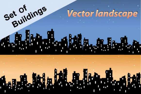 Set of city landscapes backgrounds  example image 1