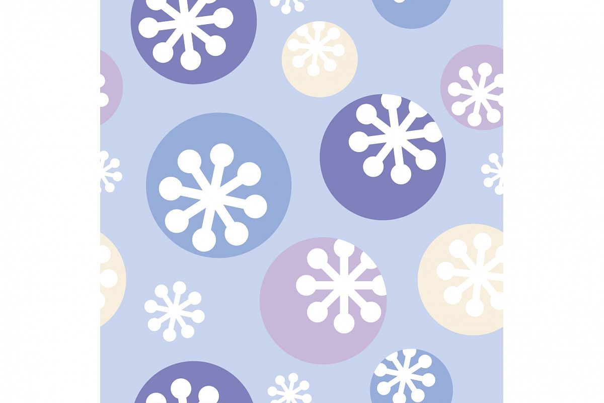 Decorative Christmas seamless background with snowflakes. Print. Repeating background. Cloth design, wallpaper. example image 1