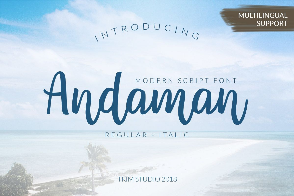 Andaman - Handlettering Font example image 1