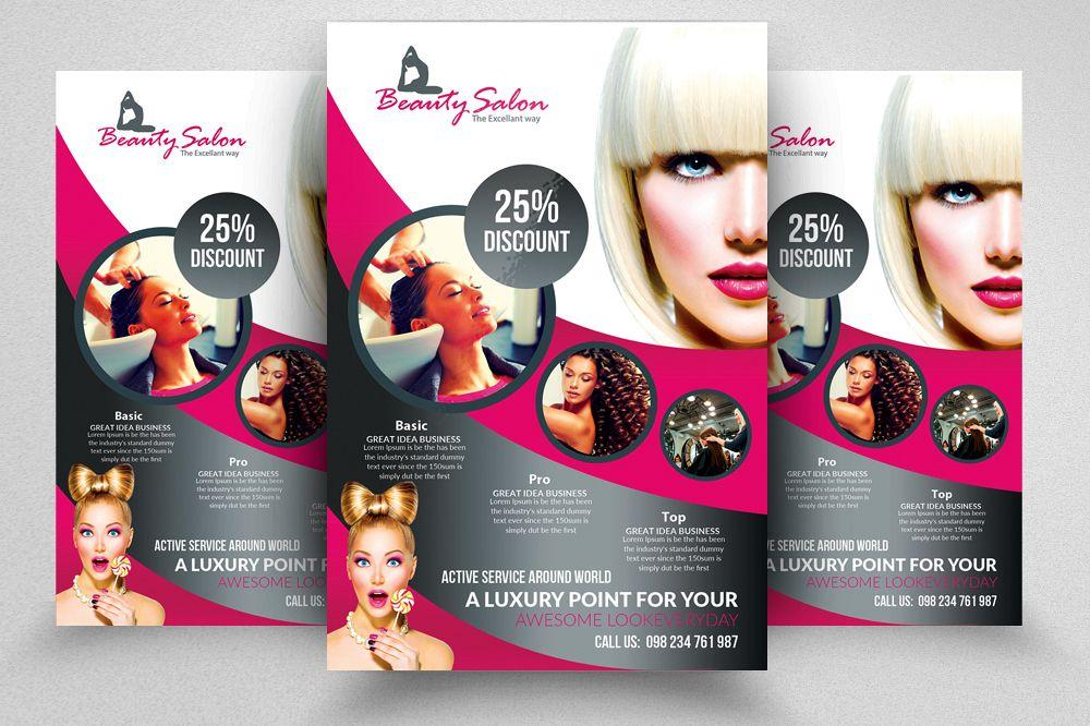 Beauty Salon Flyer Templates 03 Example Image