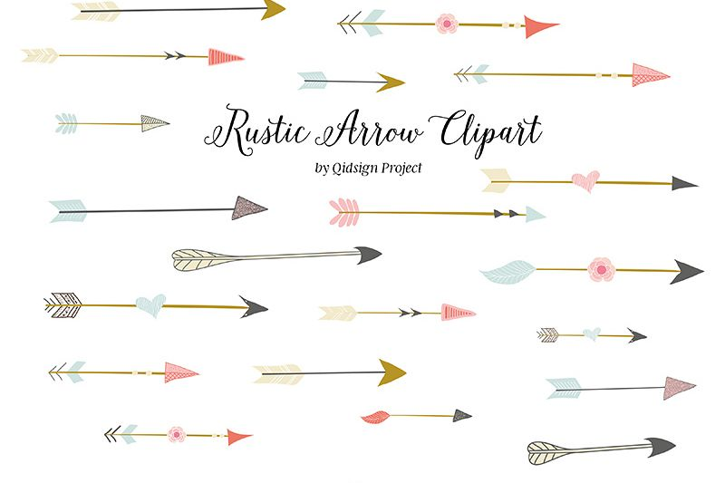 Rustic Arrow Clipart Example Image