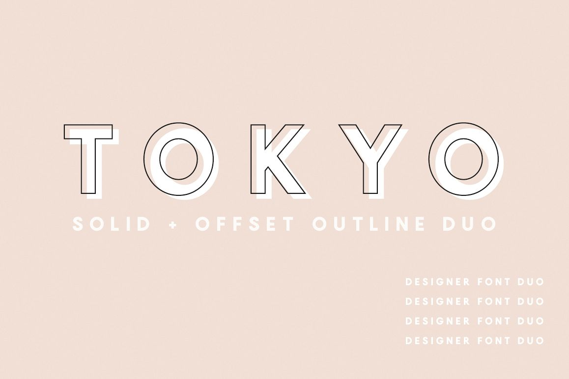 Tokyo | A Designer Font Duo example image 1