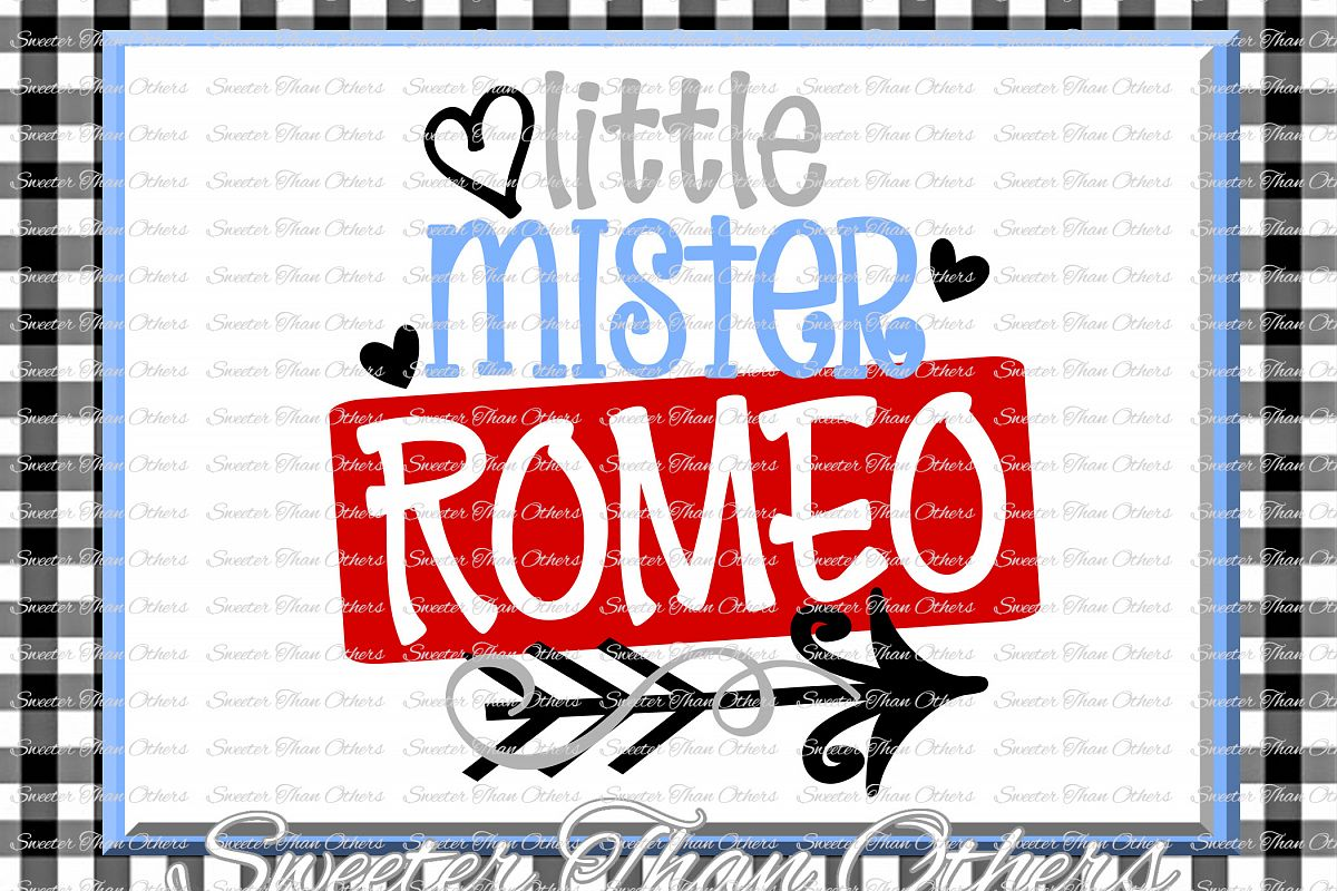 Little Mister Romeo Svg Silhouette Valentines svg example image 1