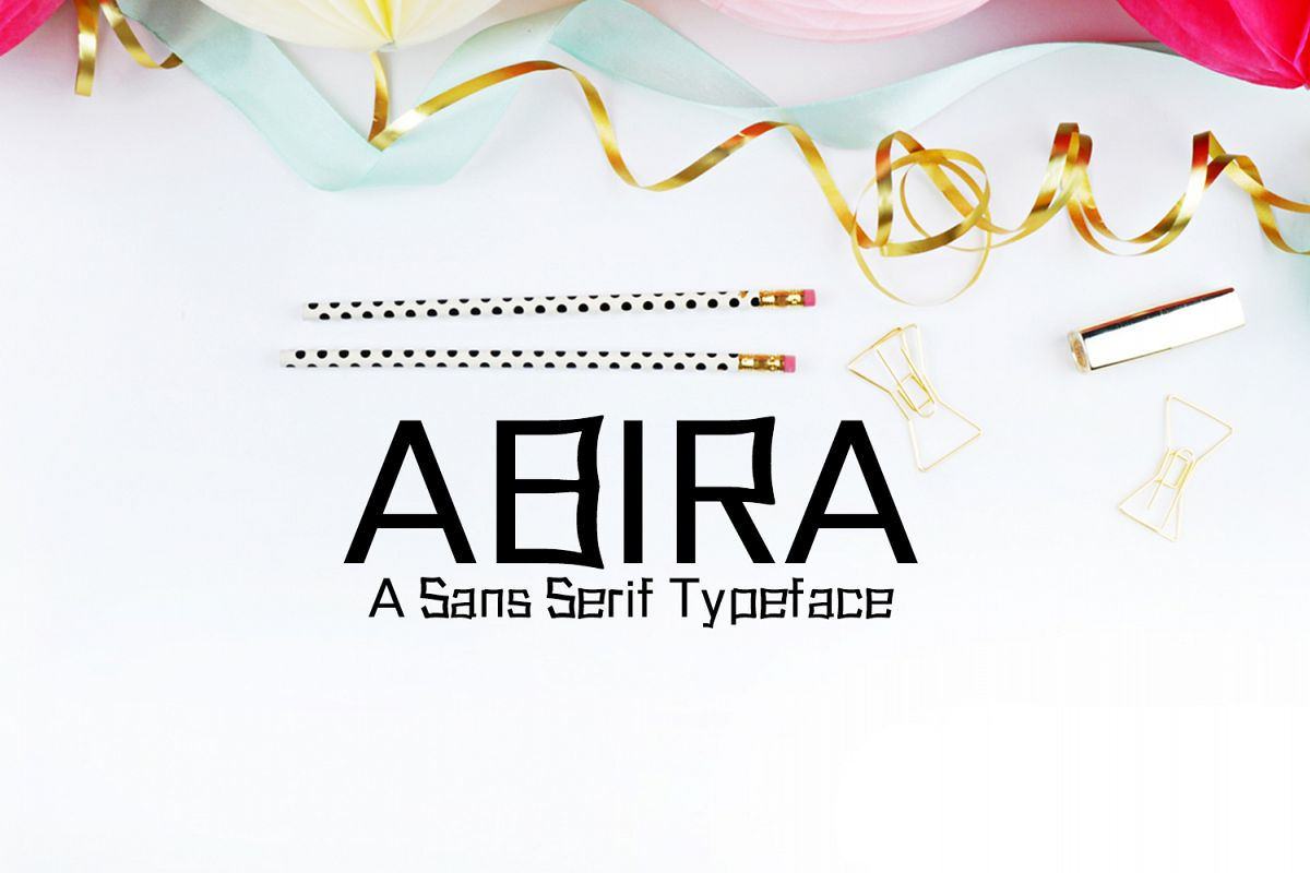 Abira Sans Serif Typeface example image 1