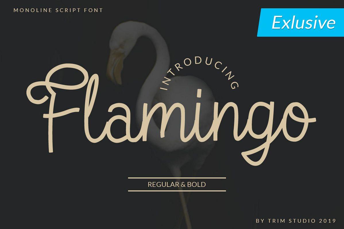 Flamingo - Monoline Script Font example image 1