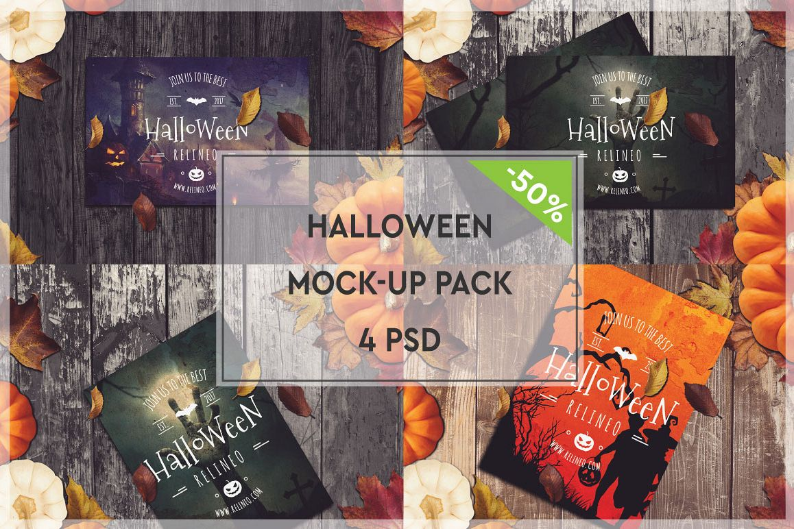Halloween Mock-up Pack #2 example image 1