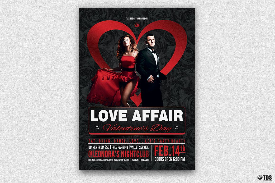 Valentines Day Flyer Template V1 example image 1