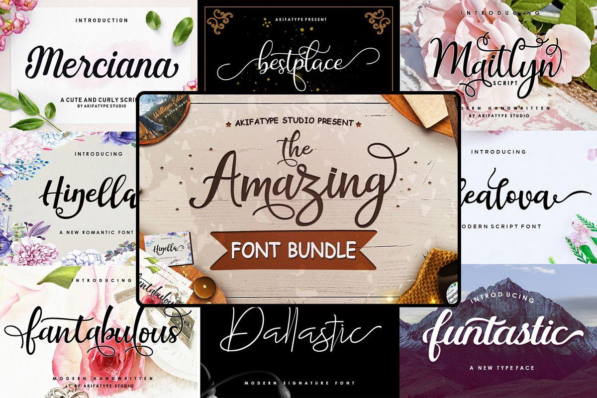 The Amazing Font Bundle - Vol I example image 1