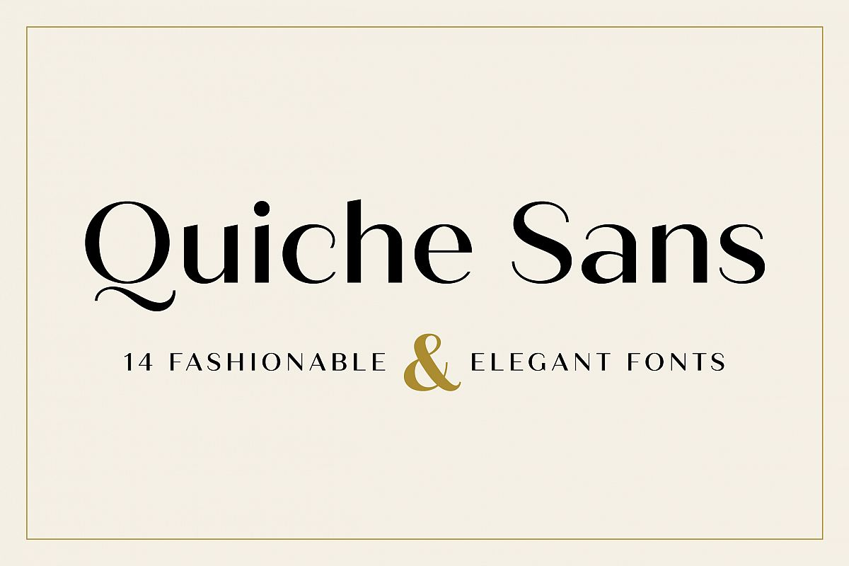 Quiche Sans Font Family example image 1
