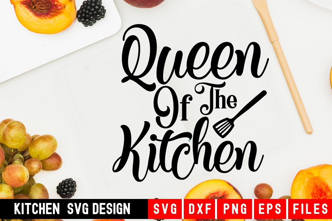 Queen Of The Kitchen|kitchen svg|kitchen towel svg example image 1