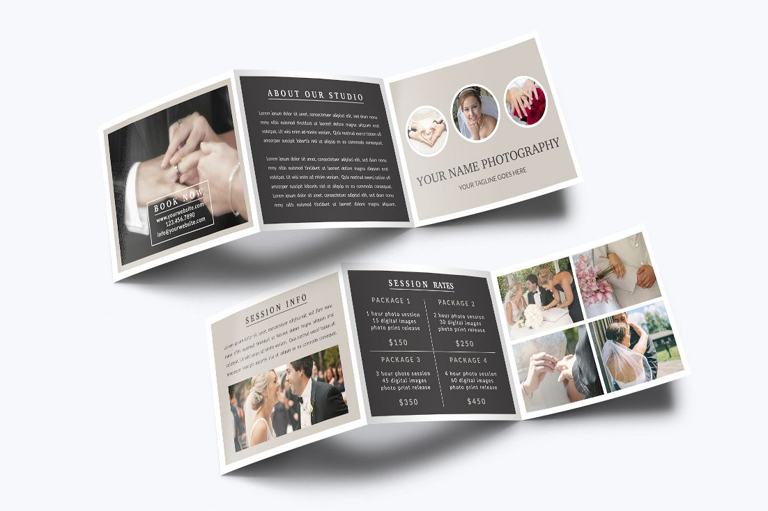 Studio Brochure | Photography Trifold Brochure Template B Design Bundles