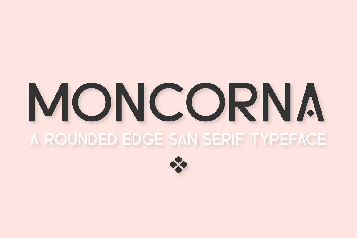 Moncorna Futuristic Sans Serif Font example image 1