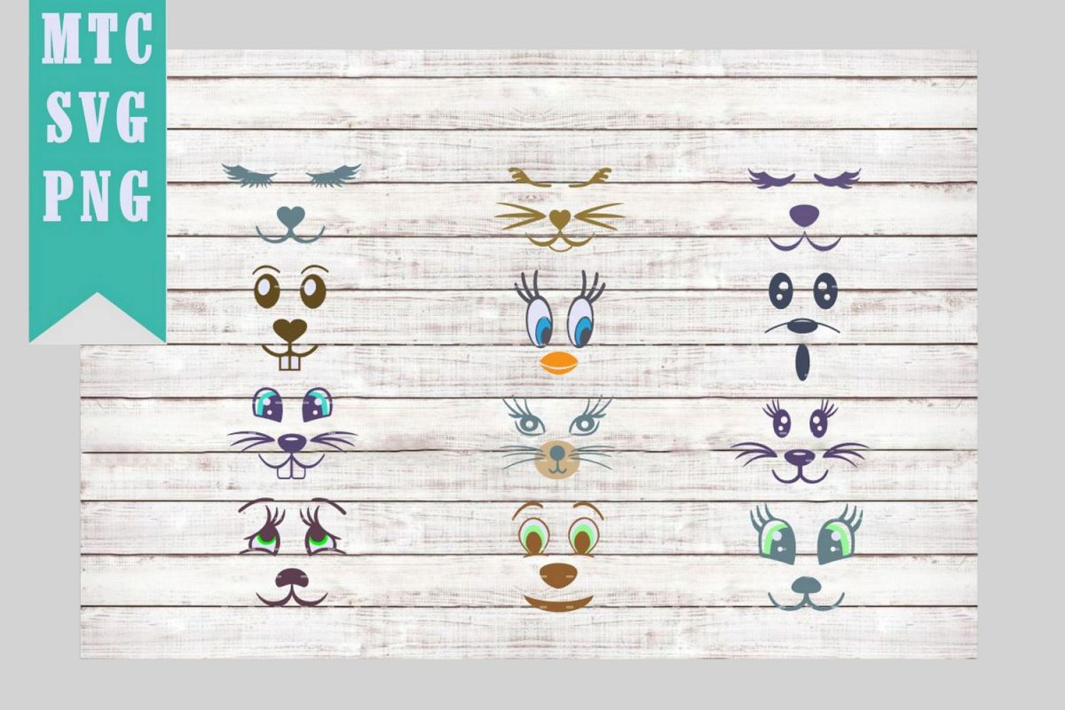 Animal Faces Mix & Match SVG Cut File example image 1