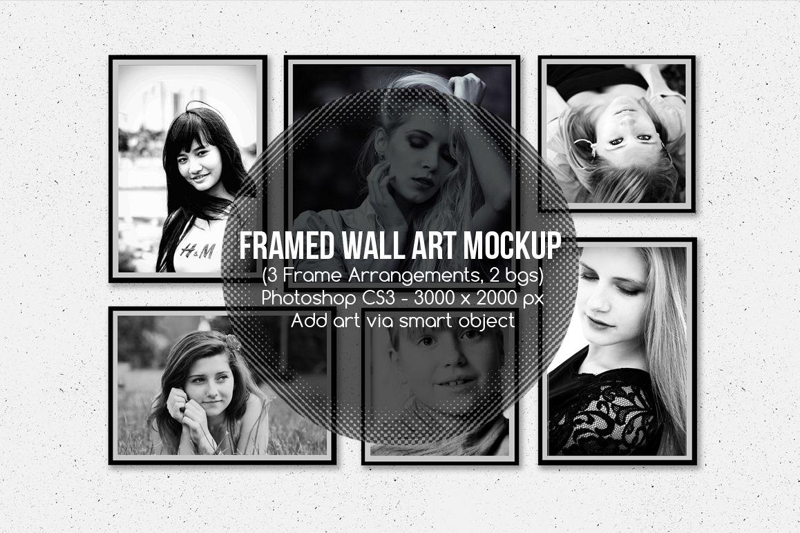 Framed Wall Art Mockup v1 example image 1
