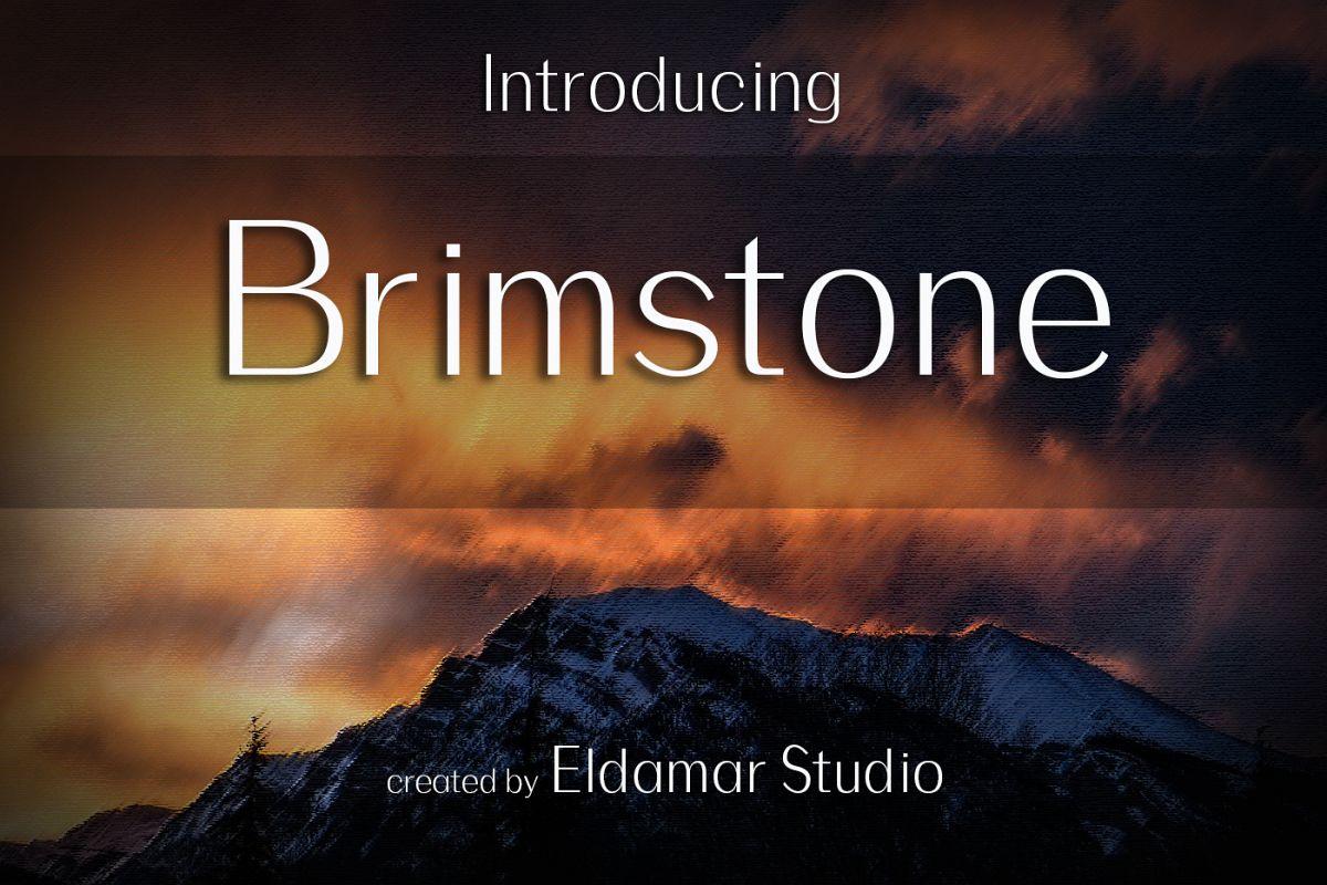 Brimstone Font example image 1