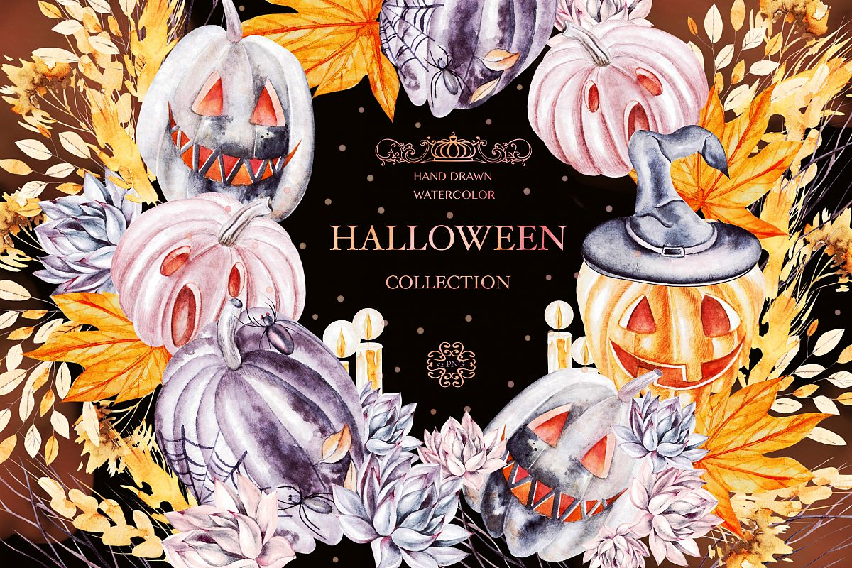 Watercolor Halloween collection example image 1