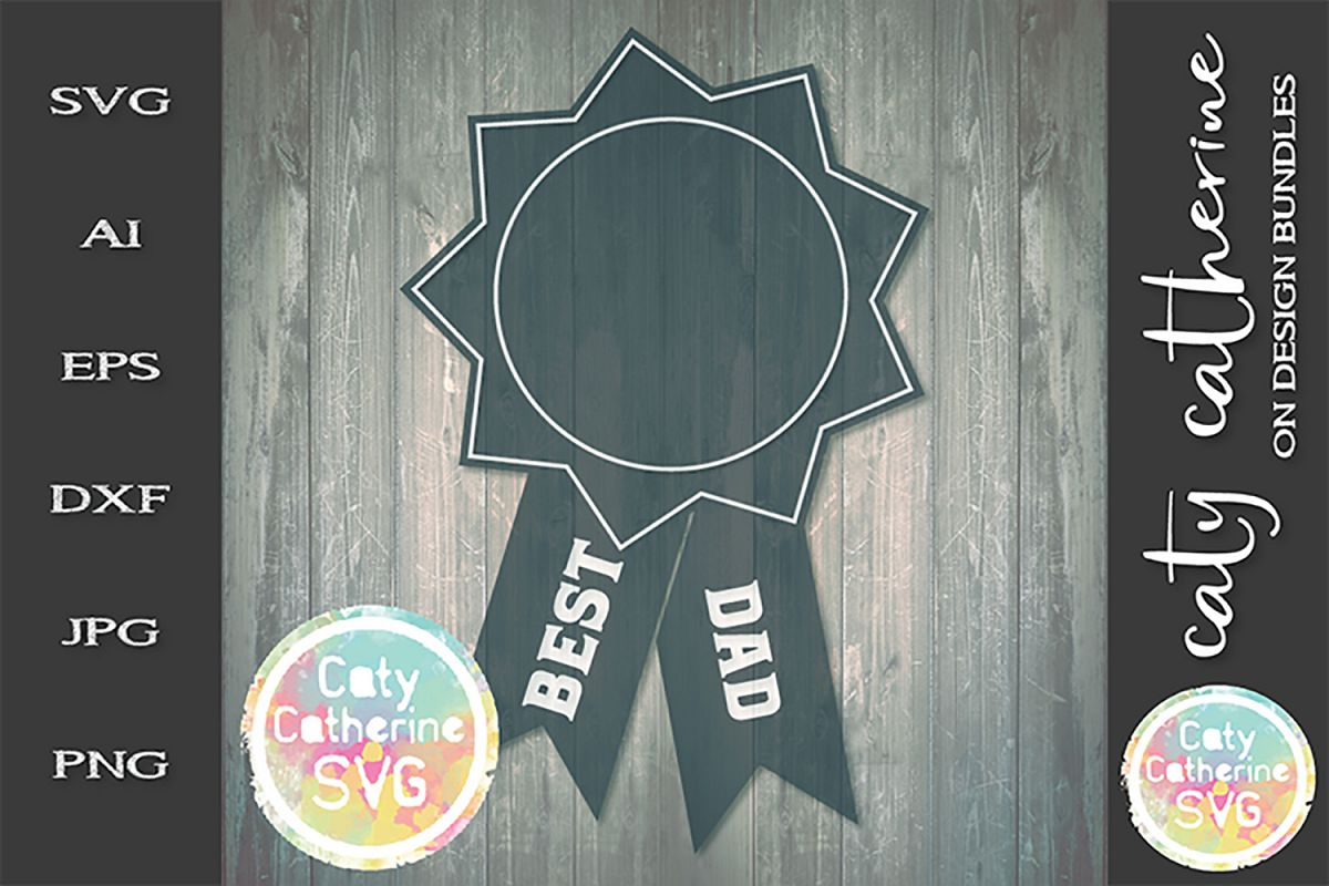 Best Dad Father's Day Award SVG Cut File example image 1