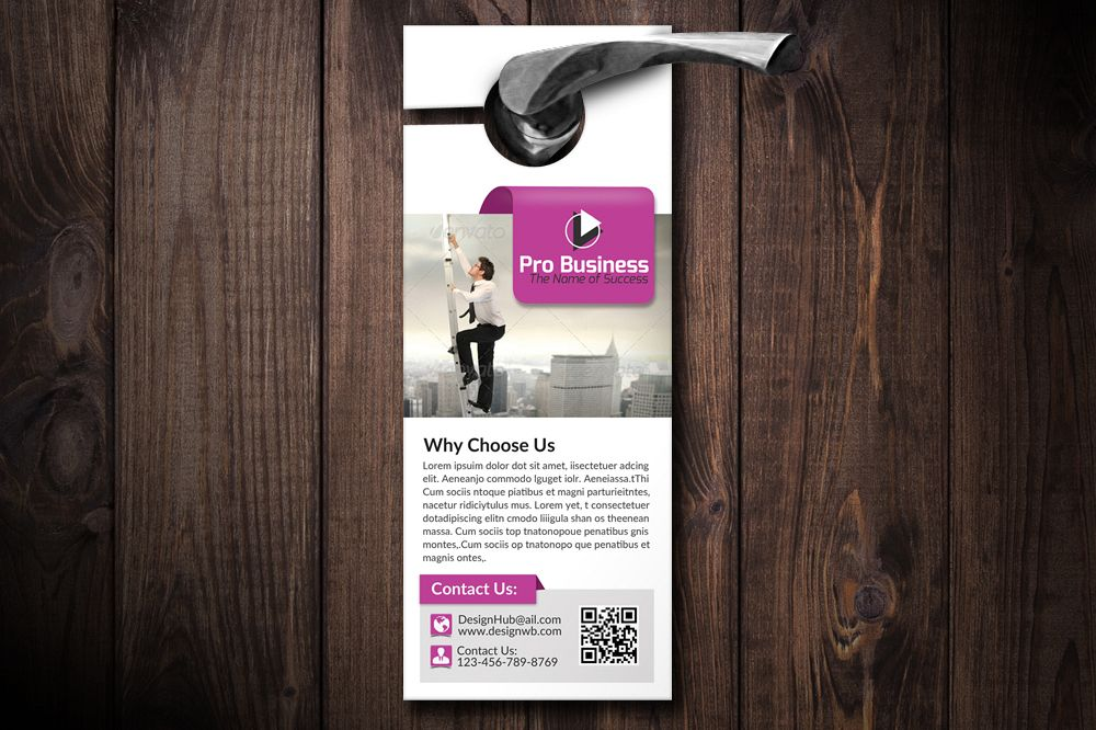Business Motivation Door Hangers example image 1