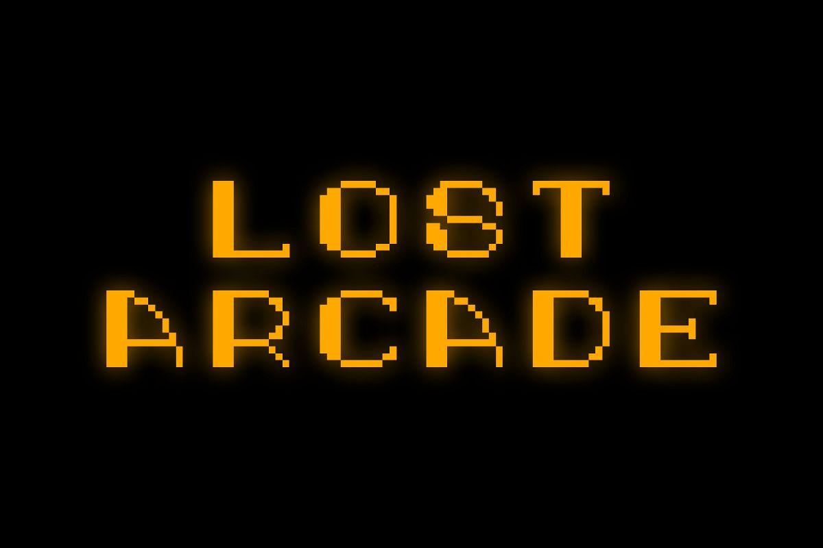 Lost Arcade Sans Adorn Black example image 1