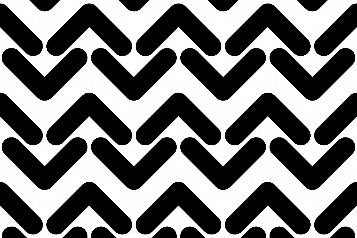 Seamless Black And White Geometric Pattern Vector Illustration Textile
