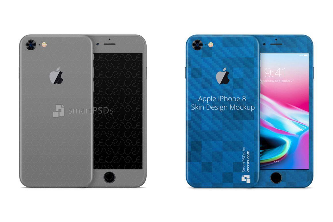 Apple iPhone 8 Vinyl Skin Design Mockup 2017 example image 1
