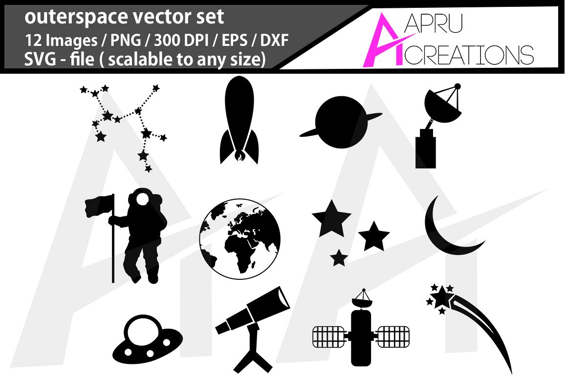 outerspace svg/ universe silhouette example image 1