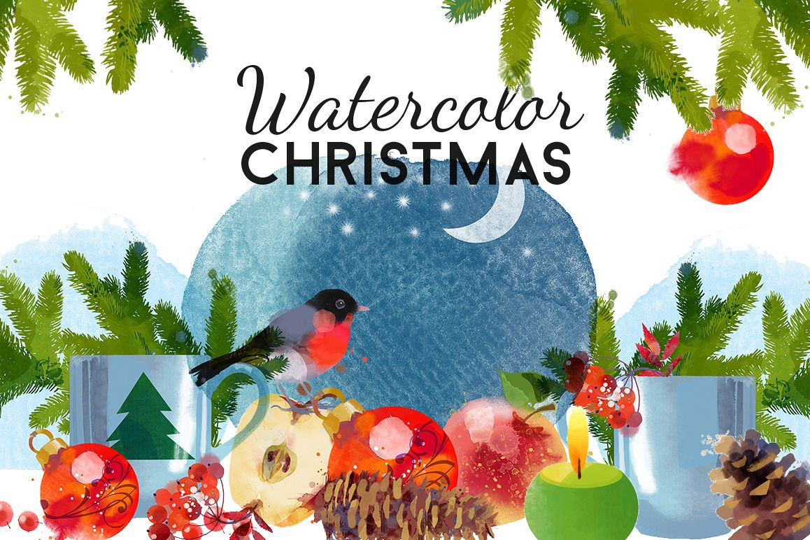 Watercolor Christmas example image 1