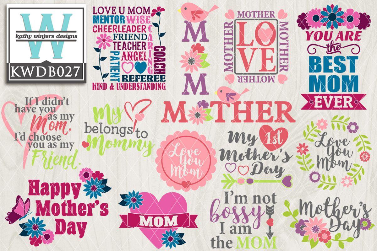 Mothers SVG - Mothers Day Bundle KWDB027 example image 1
