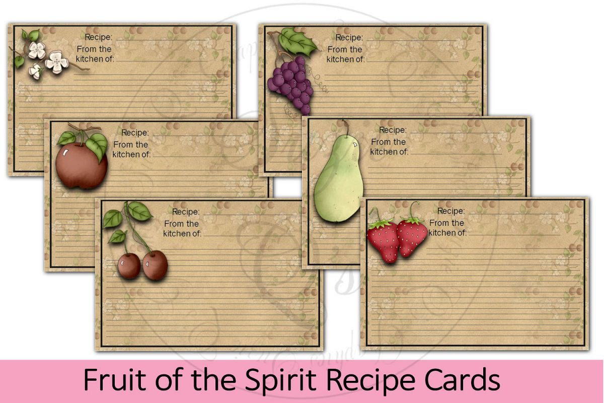 Fruit of the Spirit Recipe Cards example image 1