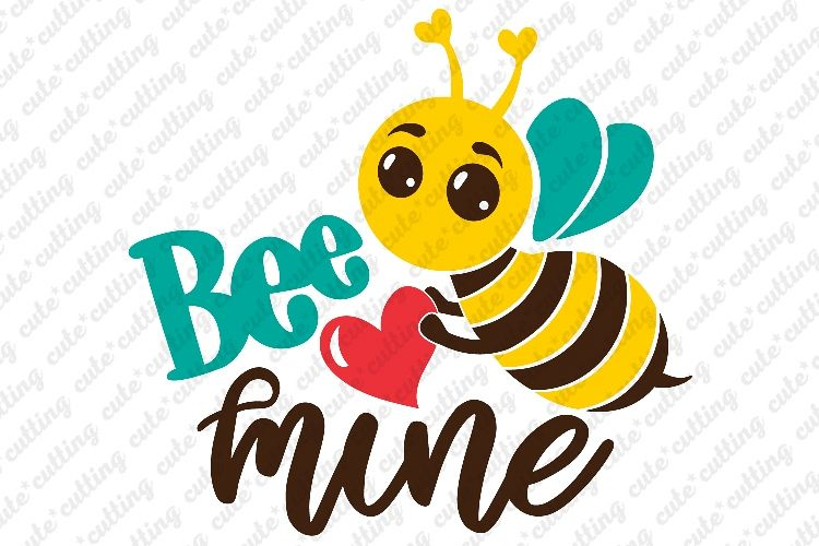 Bee Mine Svg Valentines Day Svg Bug Jpeg Pdf Png Dxf