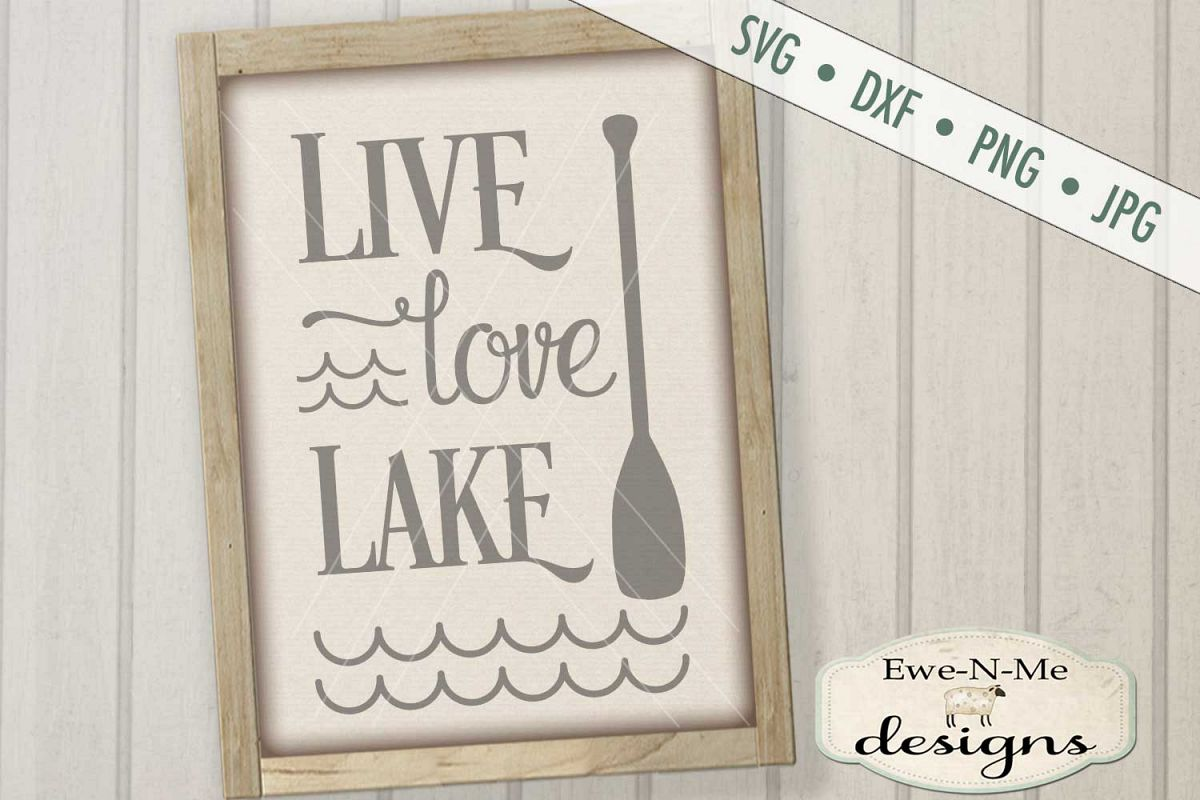 Live Love Lake - Summer - SVG DXF Files example image 1