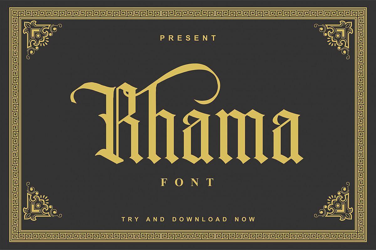 Rhama Font example image 1