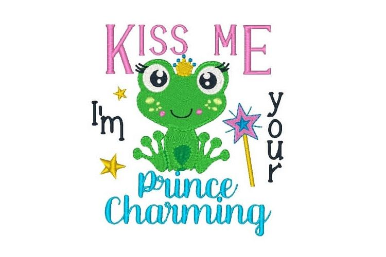 Prince Machine Embroidery Design Saying Children Quotes example image 1