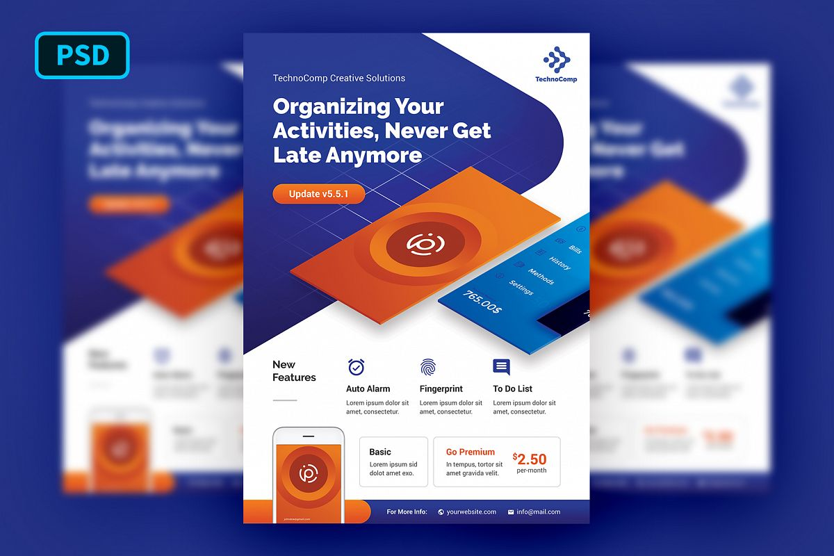 Mobile App Promotion Flyer Template example image 1