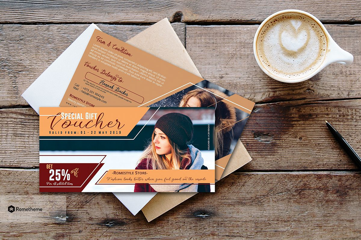 Fashion Gift Voucher Card vol.02 example image 1
