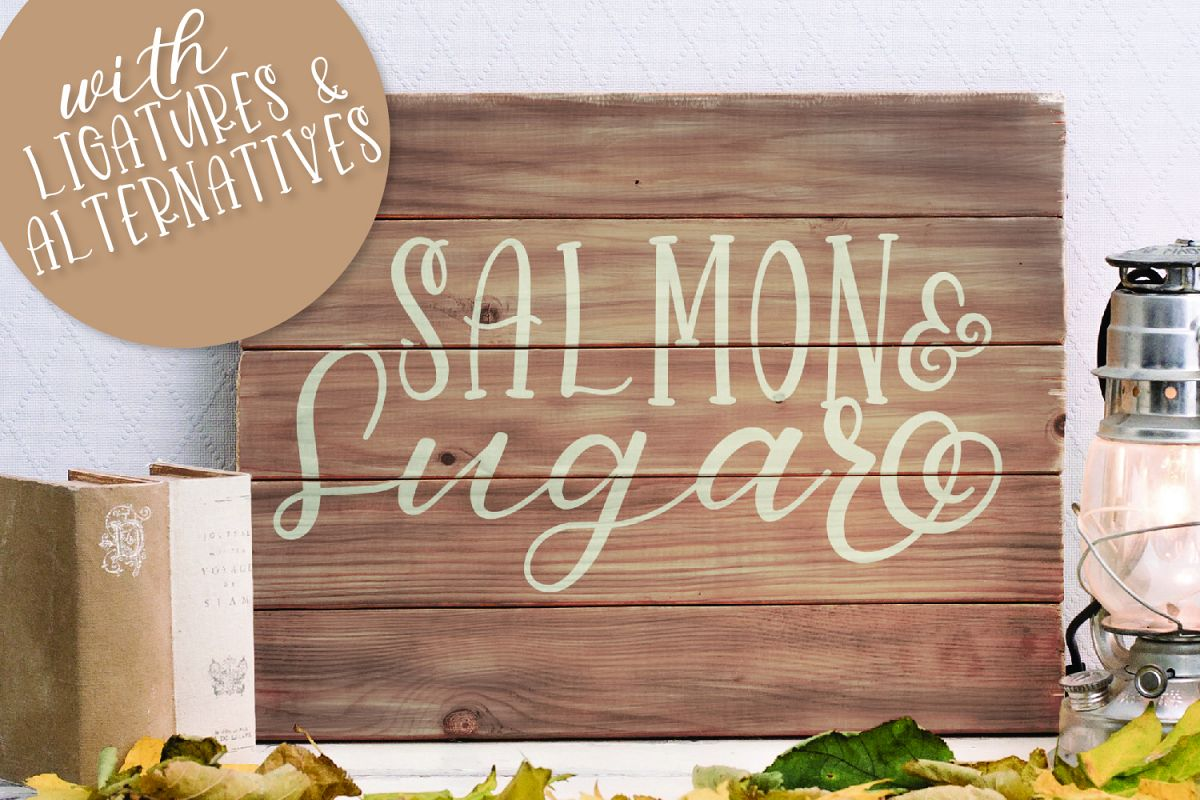 Salmon & Sugar - Hand Lettered Script & Print Font Duo example image 1