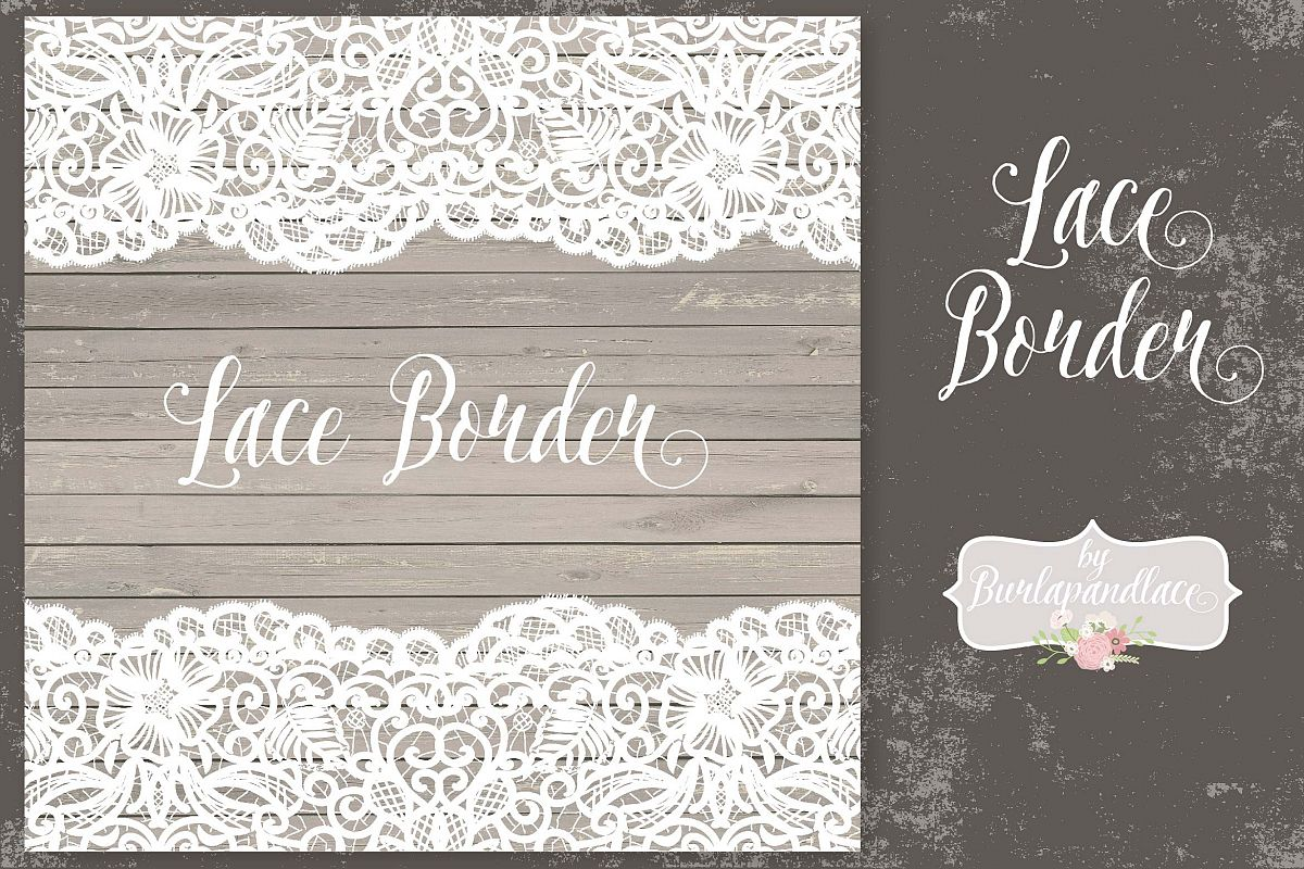 Vector Lace Border Rustic Example Image