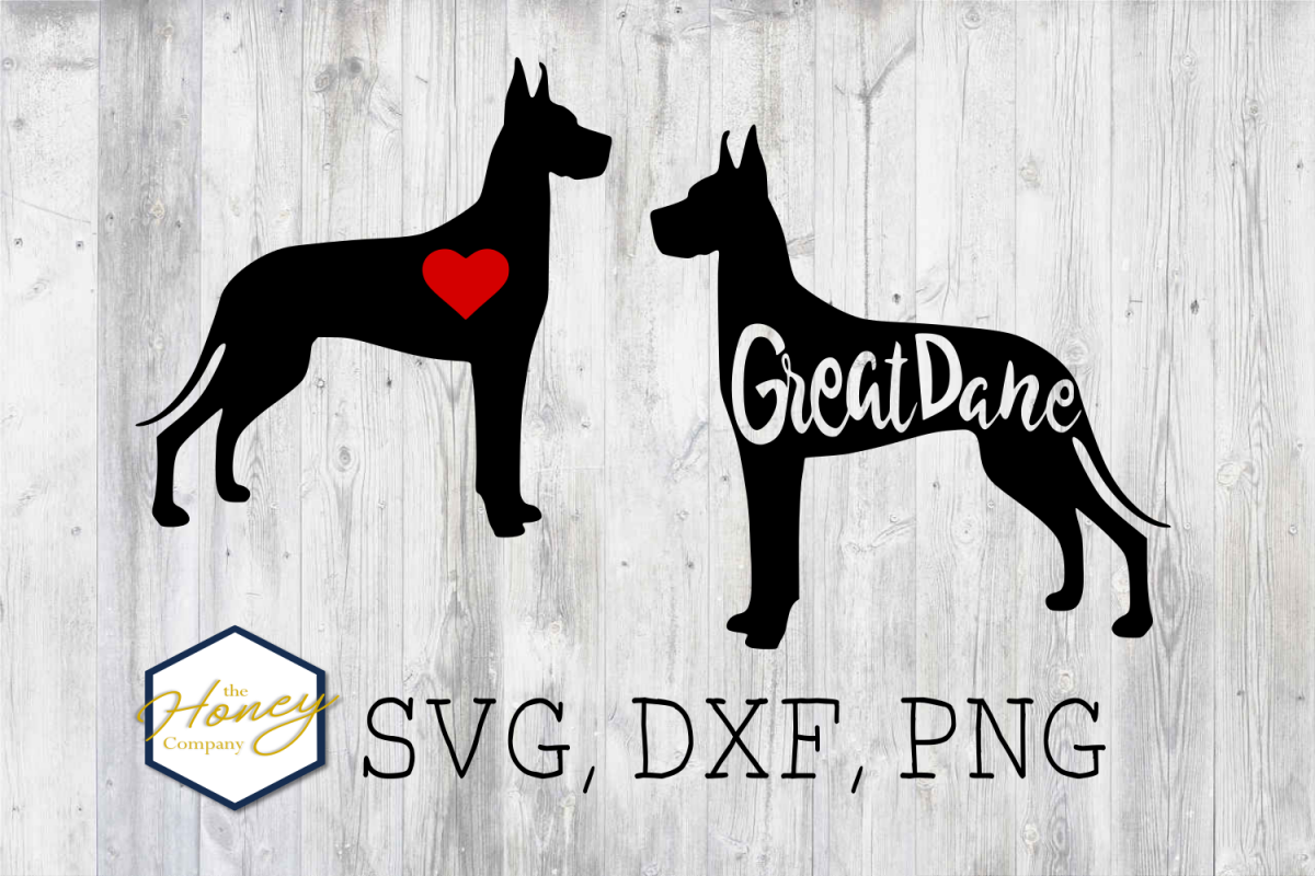 Great Dane SVG PNG DXF Dog Breed Lover Cut File Clipart example image 1