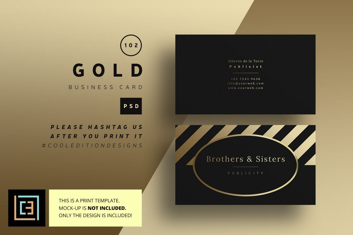 Gold business card bc102 by coolediti design bundles gold business card bc102 example image colourmoves