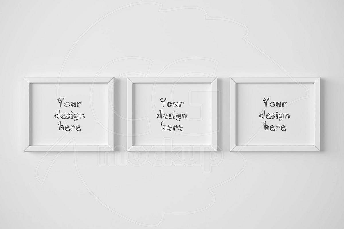 Set of 3 landscape frame mockup 8x10