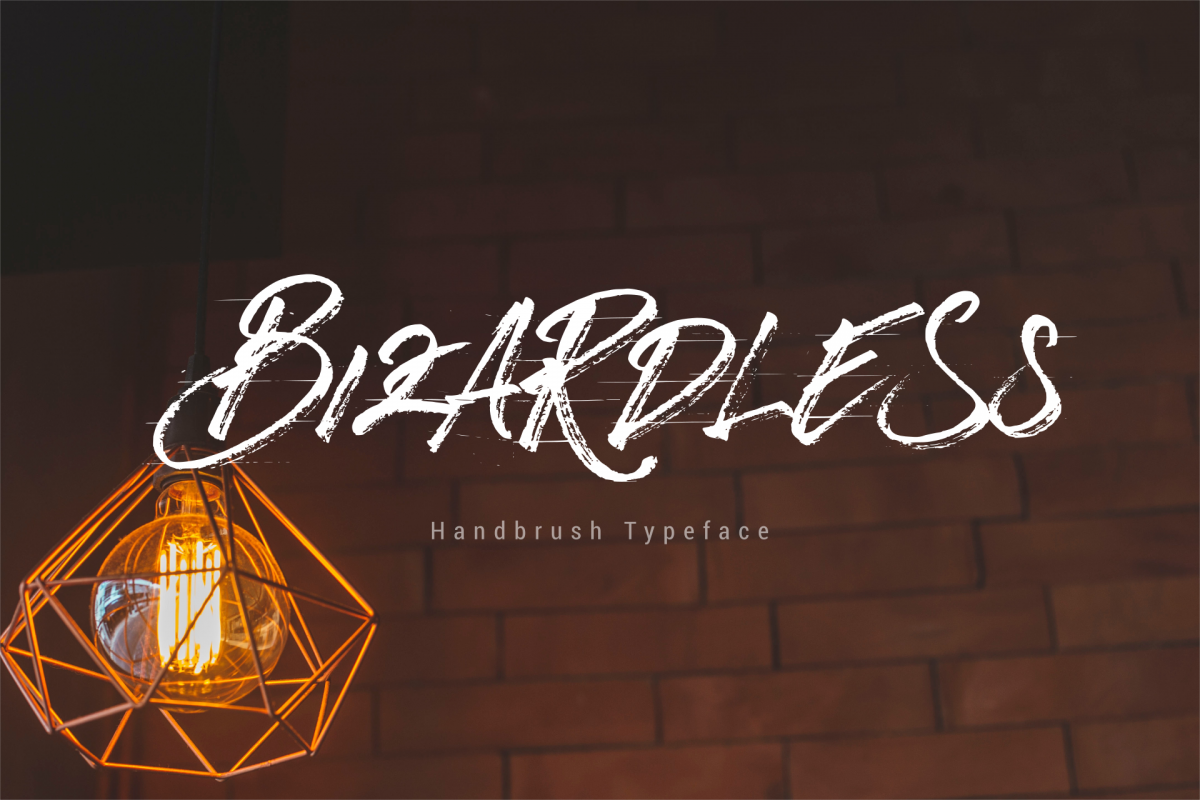 BizardleSs Handbrush Typeface example image 1