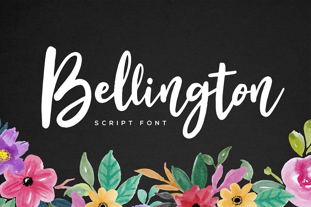 Bellington Script Font example image 1