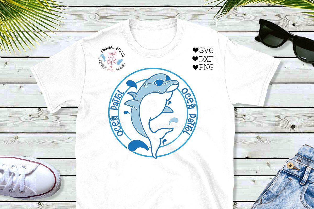Dolphin Cut File - Ocean Patrol Cut File example image 1