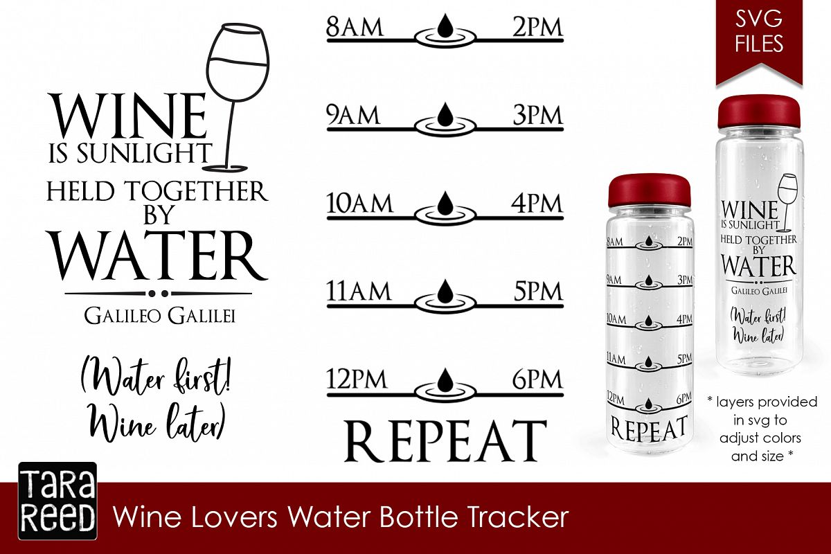 wine lovers water intake tracker