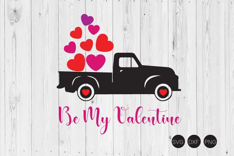 Valentine Truck Svg Valentine Day Svg Dxf Png Cut File