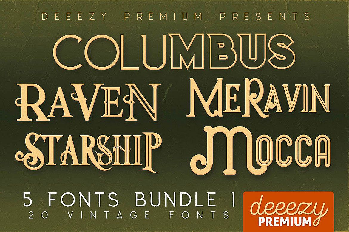 5 Fonts Bundle 1 example image 1