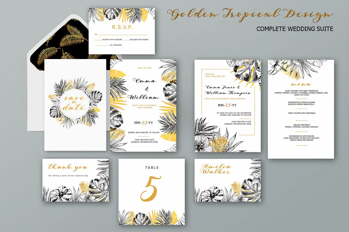 Golden Tropical Wedding example image 1